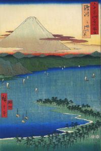 399px-Hiroshige_Mount_Fuji_seen_across_a_ray