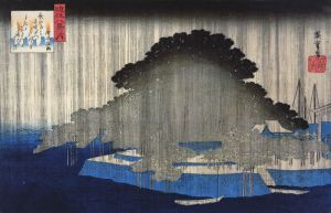 800px-Hiroshige_Heavy_rain_on_a_pine_tree_2