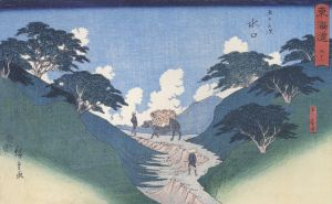 800px-Hiroshige_Man_leading_an_ox_between_mountain_slopes
