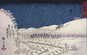 800px-Hiroshige_Snow_falling_on_a_town