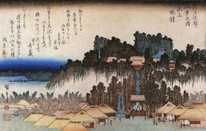 800px-Hiroshige_Temple_compound_on_a_hill