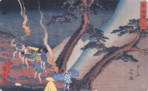 800px-Hiroshige_Travellers_on_a_Mountain_path_at_night_2