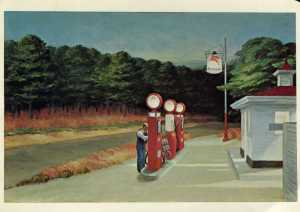 Edward Hopper, 'Gas,' postcard