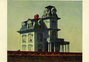 Edward Hopper, 'House by a Railroad,' postcard