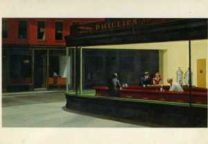 Edward Hopper, 'Nighthawks,' postcard img744