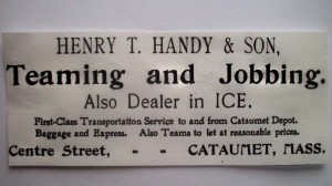 Henry T.  Handy advertisement (teaming and jobbing)