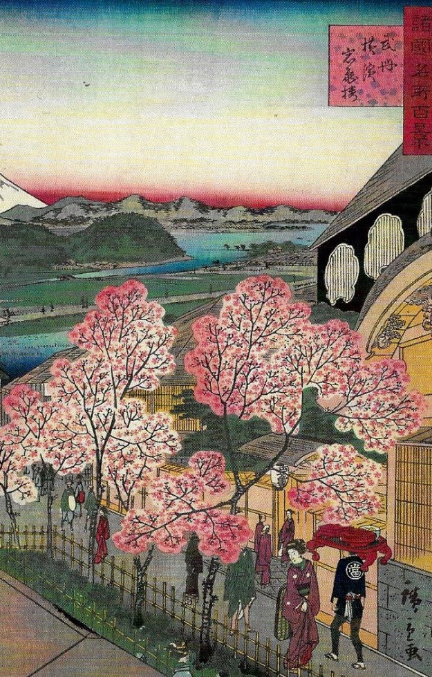 hiroshige-entrance-to-the-gankiro-tea-house