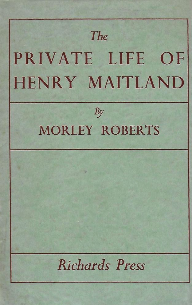 cover, 'The Private Life of Henry Maitland'.jpg