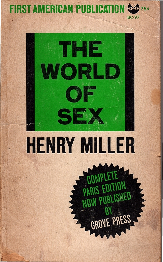 Henry Miller, 'The World of Sex,' book cover