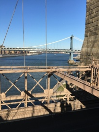 Brooklyn Bridge, overlooking East River