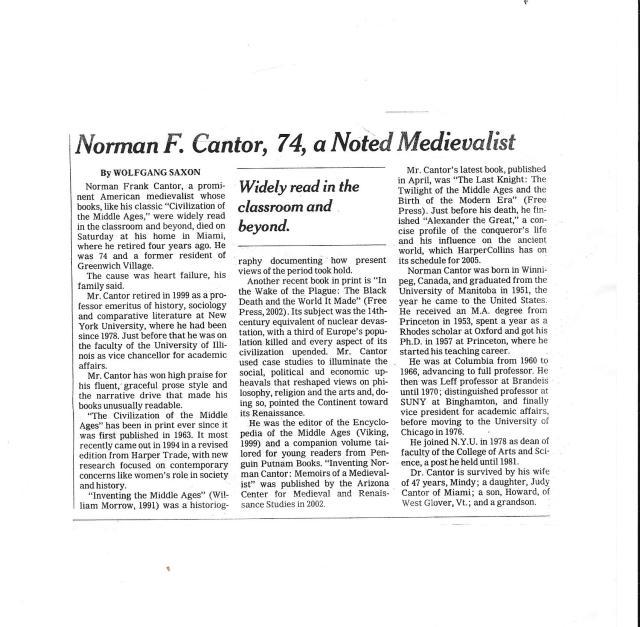 Norman F. Cantor obituary.jpg