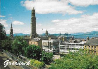 view of Greenock, Scotland