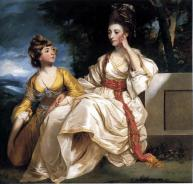 Hester Thrale and her daughter Queeney