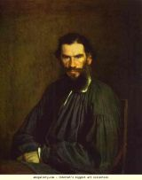 portrait of Tolstoy by Ivan Kramskoy, 1873