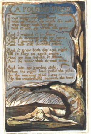 """A Poison Tree""; etching by William Blake"