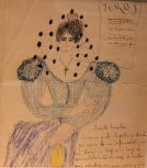 letter and accompanying drawing, from Federico García Lorca to Encarnación López (Centro Federico García Lorca in Granada)
