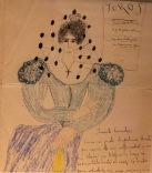 letter and accompanying drawing, from Federico García Lorca to Encarnación López (Centro Federico García Lorca in Granada)
