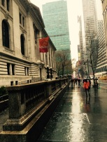 42nd Street between Fifth and Sixth Avenues; New York Public Library on left