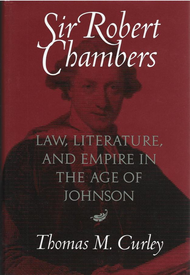 Curley, 'Sir Robert Chambers' - book cover.jpg