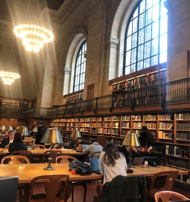 main reading room, NYPL 12-6-2018