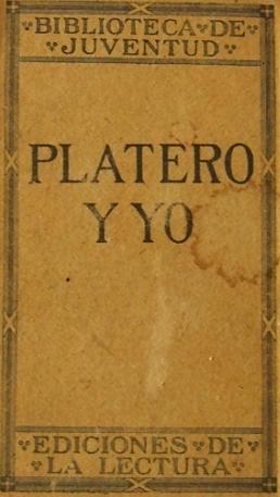 Platero y yo- first edition (1914)