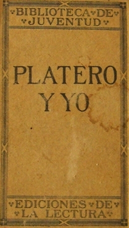 Platero y yo- first edition (1914)