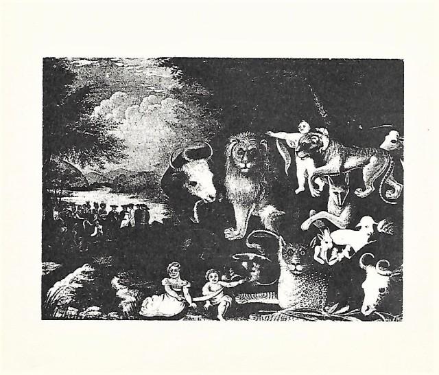 Bill Dalzell print, 'The Peacable Kingdom'