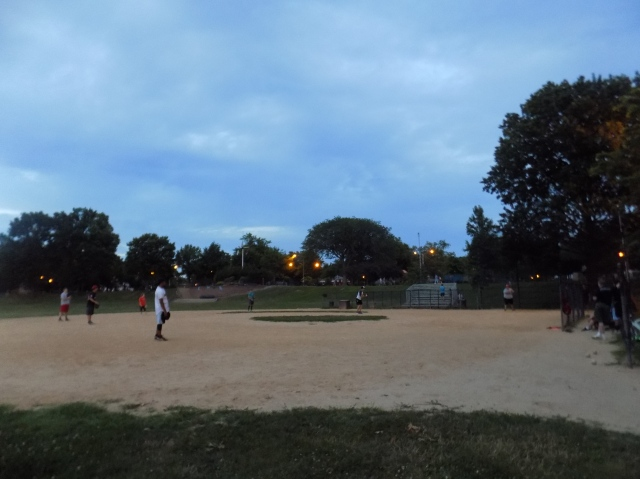 late night softball game, Juniper Valley Park 7-13-2016.JPG