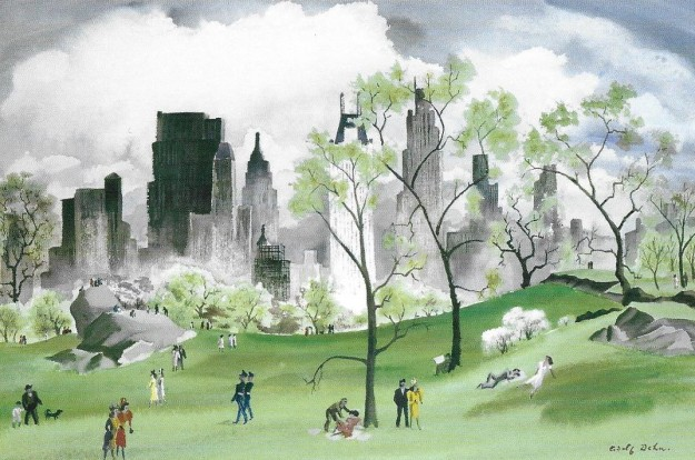Adolf Dehn, 'Spring in Central Park'.jpg