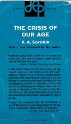"""Pitirim A. Sorokin, """"The Crisis of Our Age,"""" paperback edition; back cover"""