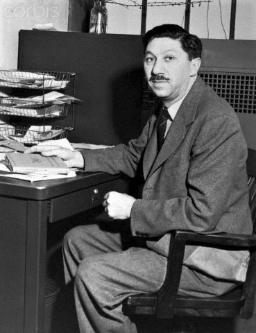 Abraham Maslow in Office at Brooklyn College