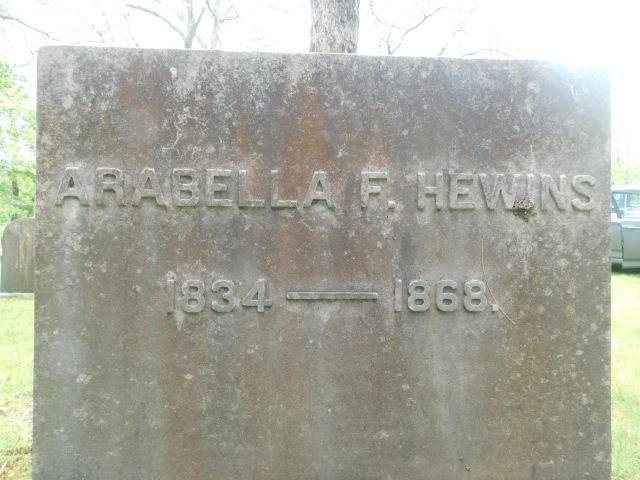 Arabella F. Hewins gravestone (2).jpg