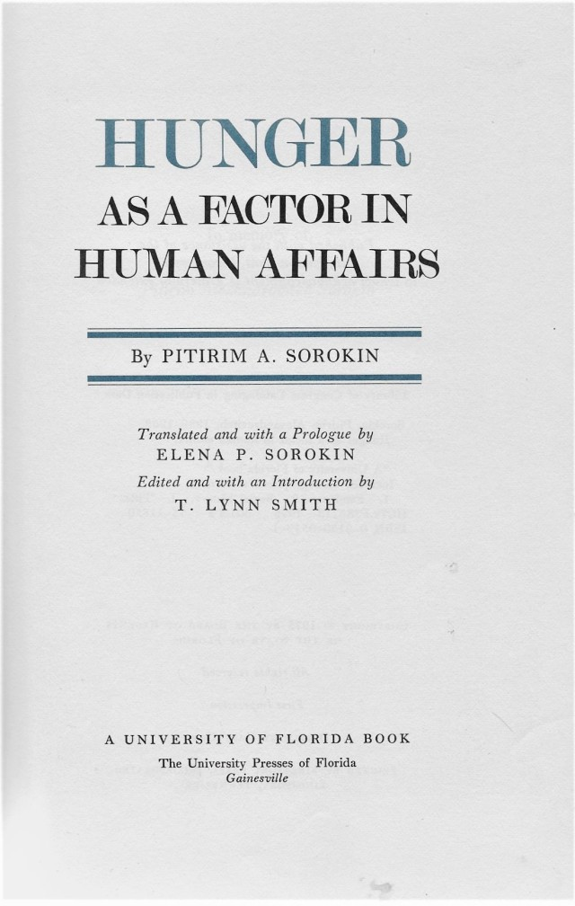 title page, 'Hunger as a Factor in Human Affairs'.jpg