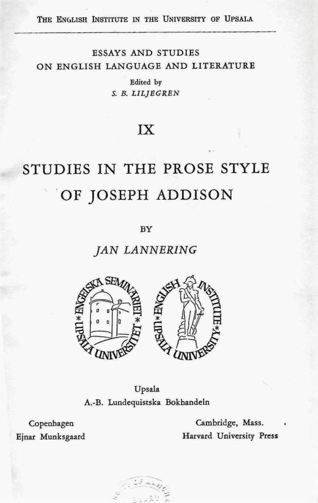 Studies in the Prose Style of Joseph Addison - cover.jpg