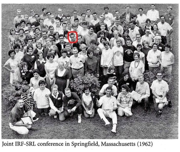 IRF-SRL conference, Springfield College 1962; Roger highlighted, 4th row (2)